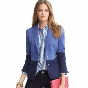 SALE Banana Republic Hacking Jacket Blue Blazer 14